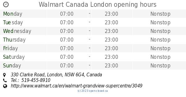 ebfdcdd369f Walmart Canada London opening hours, 330 Clarke Road