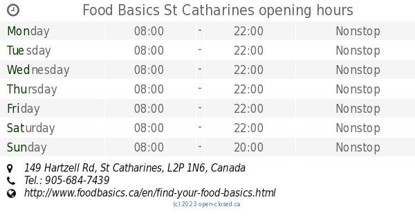 Food basics st catharines
