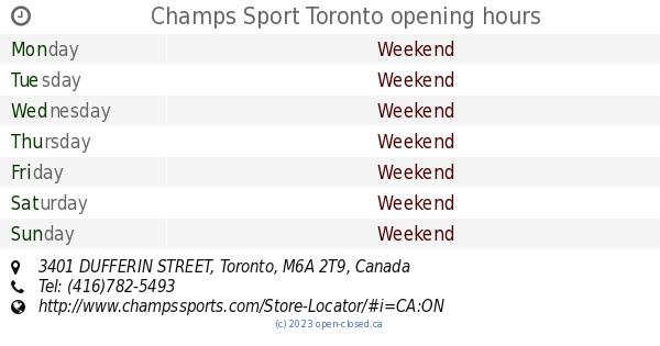 5677c158aa4b76 Champs Sport Toronto opening hours