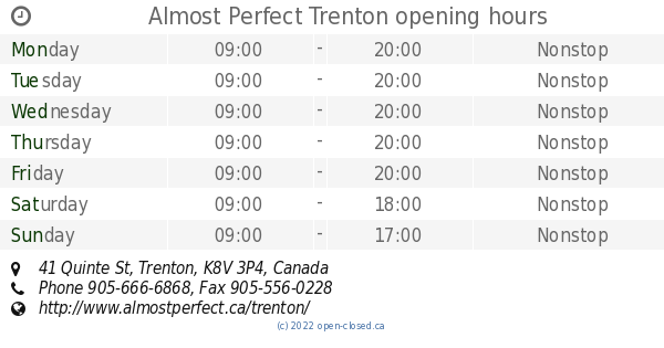 Almost perfect trenton ontario