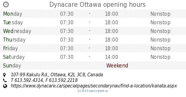 Dynacare Ottawa Opening Hours 107 99 Kakulu Rd